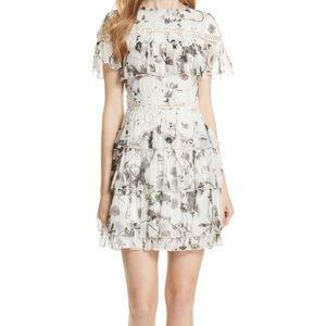 Alice olivia floral crown dress